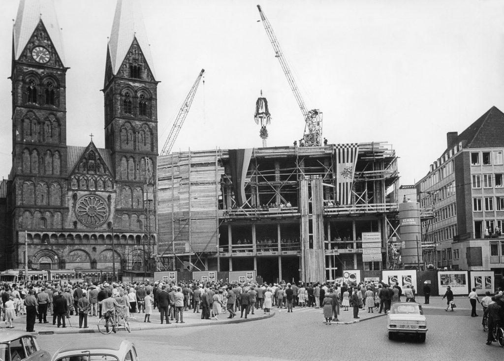 Richtfest für die Bürgerschaft, 1964, Foto von Klaus Sander