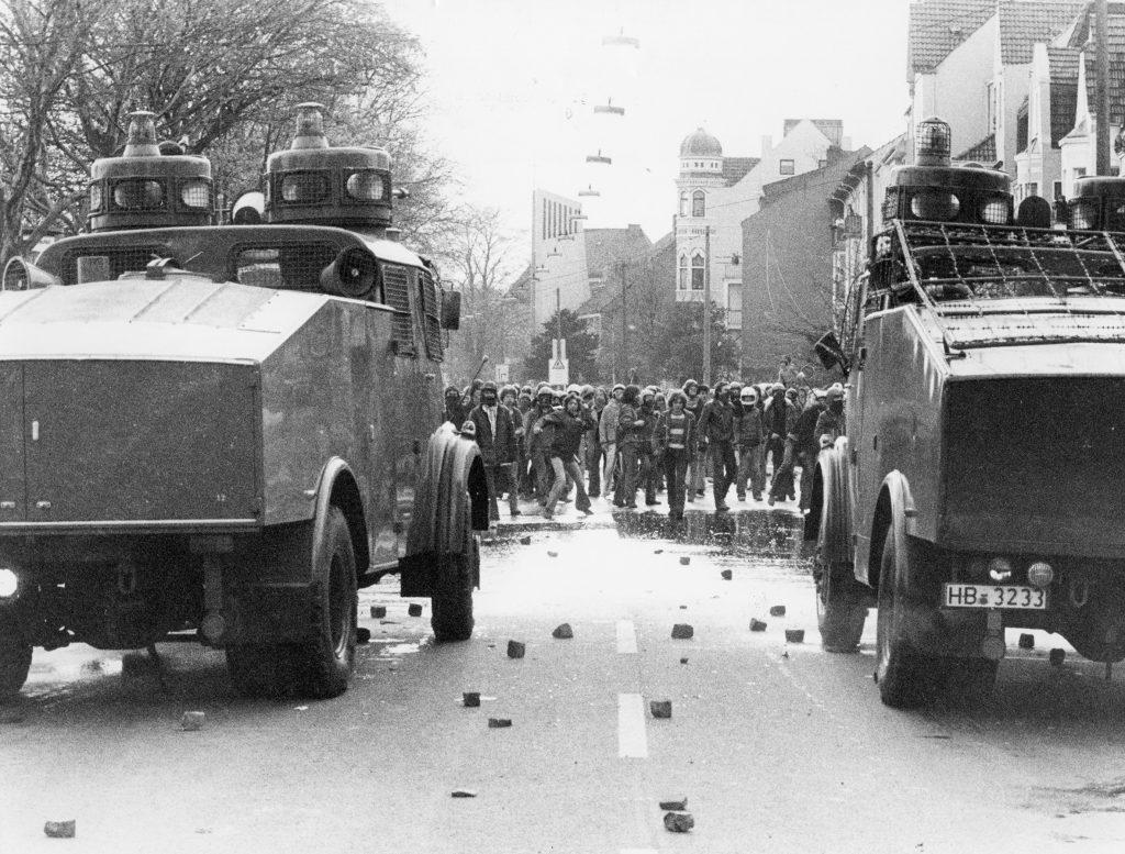 Straßenschlacht am Osterdeich, 1980, Foto von Walter Schumann