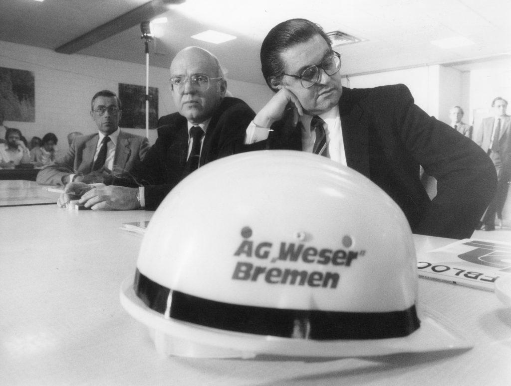 Schließung der AG Weser, 1983, Foto von Walter Schumann
