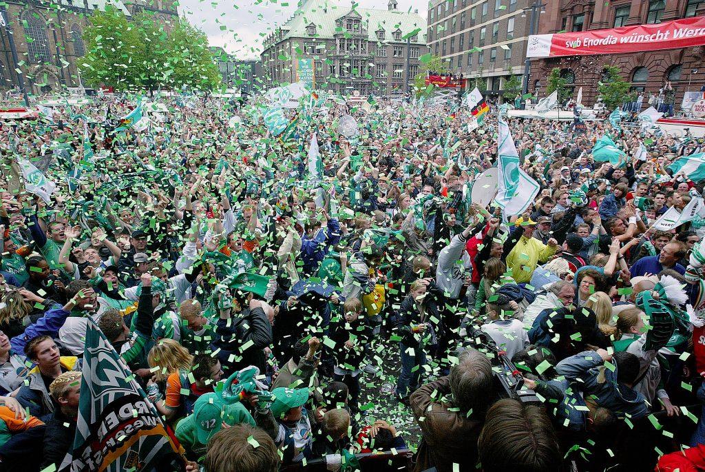 Werder Bremen wird Deutscher Meister, 2004, Foto von Jochen Stoss/Staatsarchiv Bremen