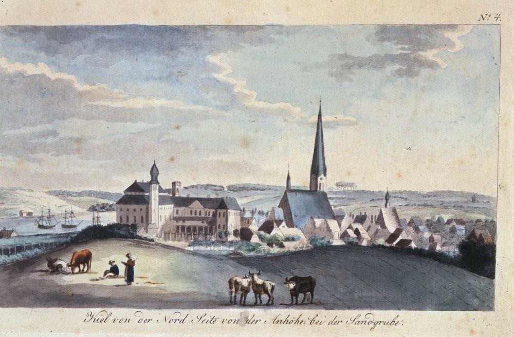 Bünsow: Kiel von der Nordseite aus dem Kieler Stadt- und Schifffahrtsmuseum