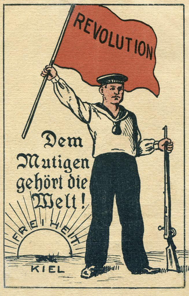 Revolutionspostkarte, anonoy, aus der Sammlung Schoppe im Kieler Stadt- und Schifffahrtsmuseum