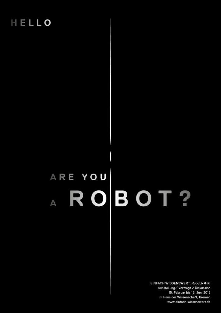 Plakat der Ausstellung EINFACH WISSENSWERT: Robotik & KI von Zwo.Acht