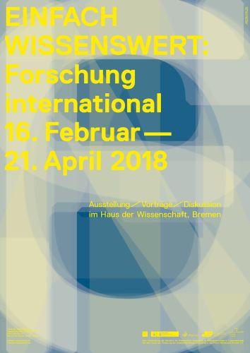 Plakat EINFACH WISSENSWERT Forschung international von ZwoAcht